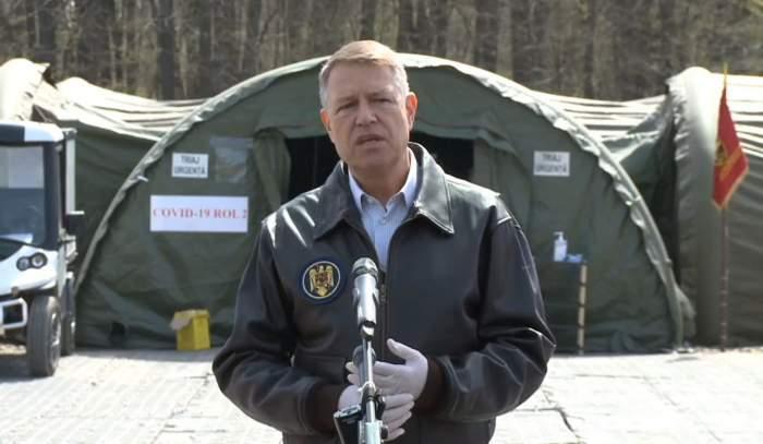 """Președintele Klaus Iohannis, declarații la finalul vizitei Spitalului de Campanie ROL II: """"Suntem pregătiți"""""""