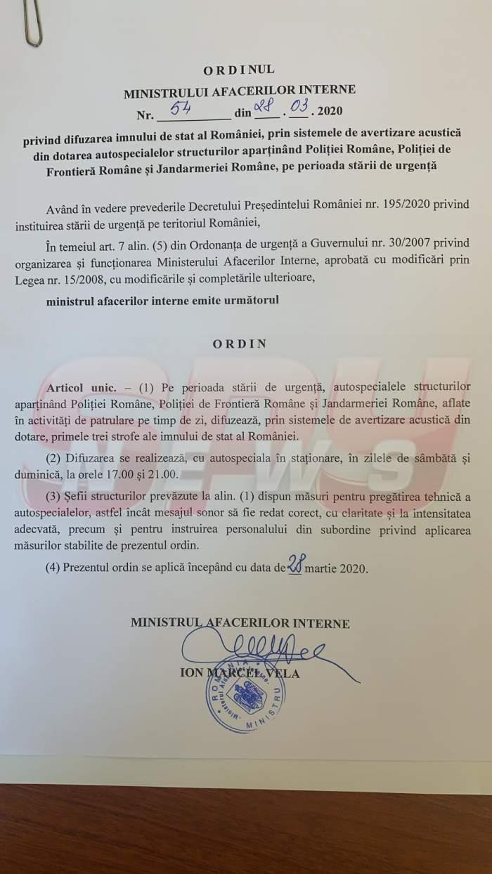 """""""Deșteaptă-te române"""", auzit din toate mașinile de Poliție din țară, sâmbătă la ora 17.00"""