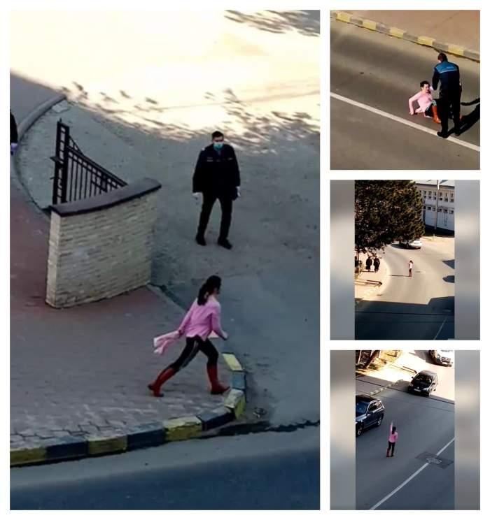 O femeie din Suceava a alergat printre mașini, strigând că nu există coronavirus / VIDEO