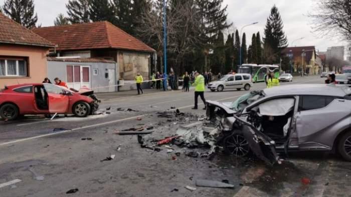 Accident mortal în Braşov. O tânără de 26 de ani a ajuns la spital cu coloana ruptă / FOTO