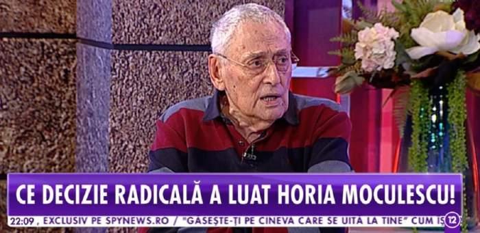 """VIDEO / De necrezut! Ce pensie are Horia Moculescu, după aproape 50 de ani de carieră: """"Poştaşul se jenează să mi-o dea"""""""