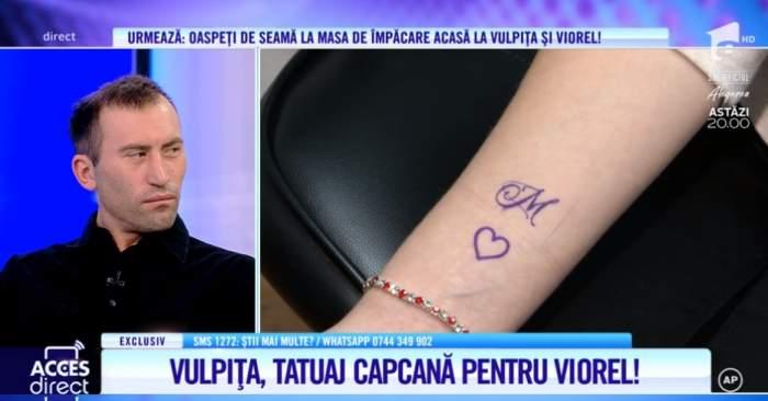 """Vulpița și-a făcut tatuaj! Cum arată și ce reacție furibundă a avut Viorel: """"M e de la Marian"""""""
