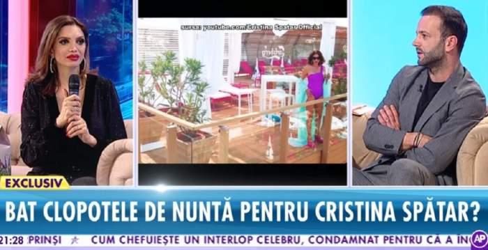 """VIDEO / Cristina Spătar, clopote de nuntă? """"Când ai pe cineva alături chiar se simte"""""""