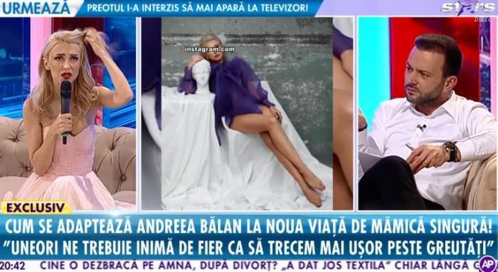 """VIDEO / L-ar mai primi sau nu înapoi pe George Burcea? Andreea Bălan: """"Să fie fericit cu noua lui viaţă"""""""