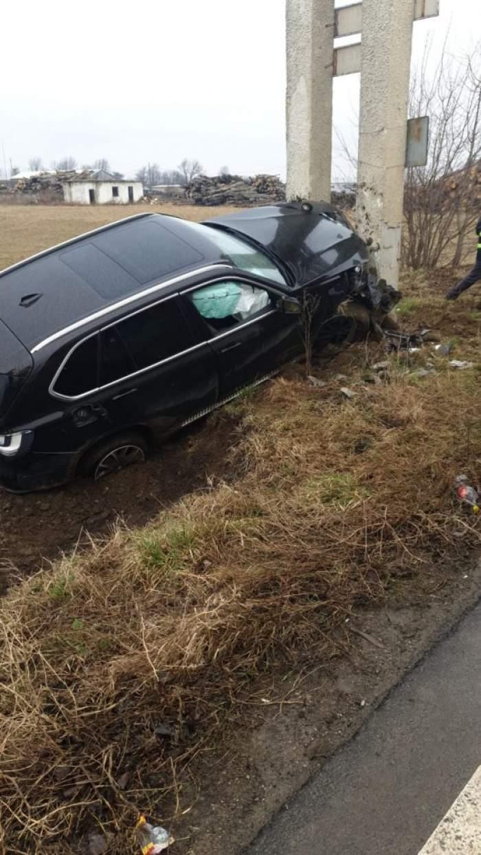 Accident teribil la intrarea în Târgu-Neamț. Șoferul a adormit la volanul mașinii