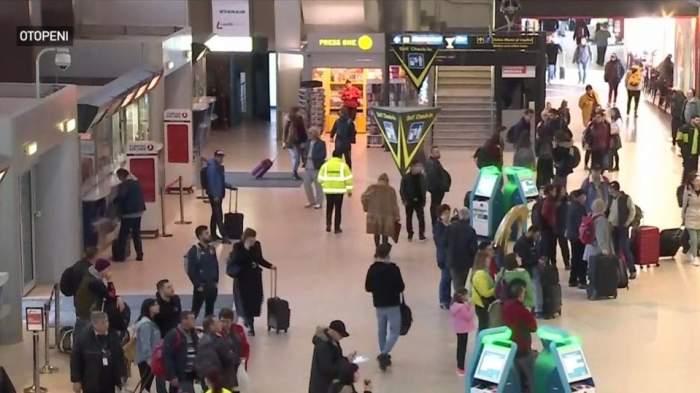 VIDEO / Zeci de pasageri, blocați pe aeroportul Otopeni. Toate zborurile spre Italia au fost suspendate din cauza coronavirusului