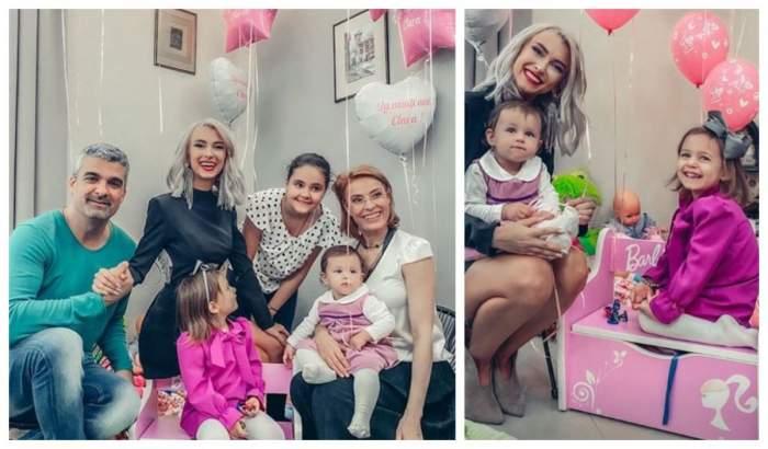 FOTO / Primul tablou de familie fără George Burcea.  Fetița cea mică a Andreei Bălan a împlinit un anișor, iar astăzi are loc ruperea turtei