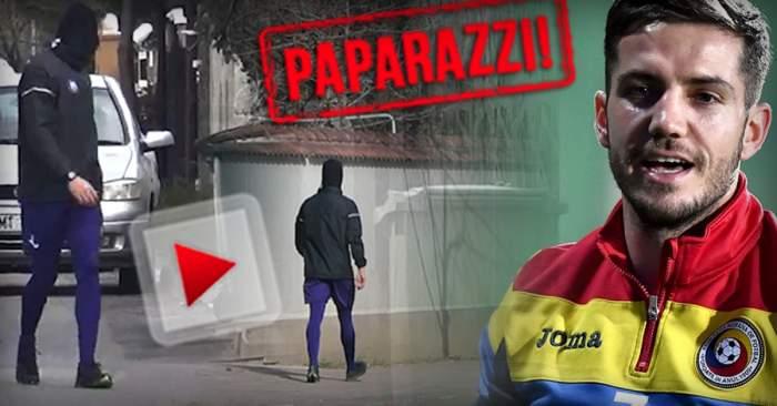 VIDEO PAPARAZZI / Alexandru Chipciu se menține în formă, chiar dacă nu e pe teren. A ieșit să facă mișcare, dar a uitat de masca de protecție. La ce truc a apelat fotbalistul