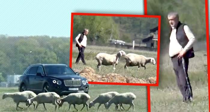 """VIDEO PAPARAZZI / Gigi Becali, în """"inspecție"""" la mioare, cu bolidul de 200.000 de euro! Latifundiarul din Pipera nu uită de unde a plecat"""
