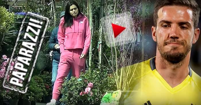 """VIDEO PAPARAZZI / Alexandru Chipciu, stai liniștit! Soția ta și-a luat singură flori! Andreea, """"prinsă"""" în acțiune"""