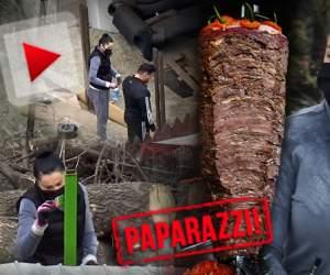 """PAPARAZZI / Pandemia le-a lovit în plin """"shaorma"""", dar soții Pastramă nu fac pauză! Brigitte trudește exact ca un muncitor pe șantier"""