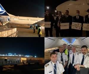 VIDEO / Un avion cu 200 de mii de măști de protecție pentru doctori a ajuns în țara noastră. Echipajul intră în carantină