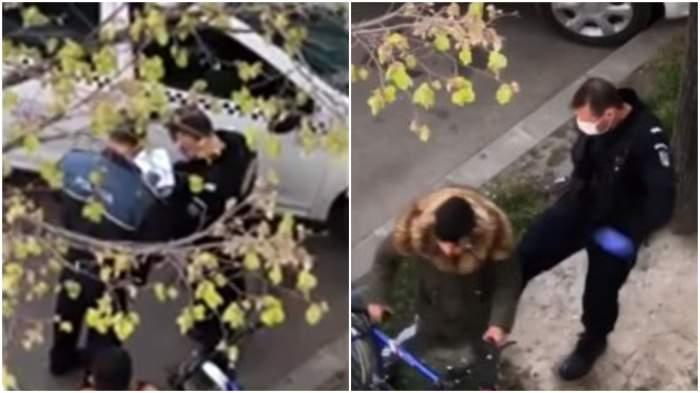 Filmare șocantă în Brăila! Un jandarm lovește un tânăr, după ce i-a verificat actele / VIDEO