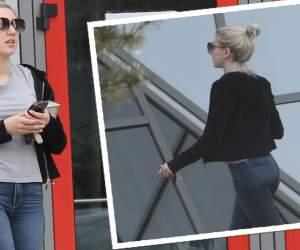 VIDEO PAPARAZZI / Fără mască și mănuși, Alexandra Becali s-a întors din drum. Blonda nu se teme de COVID-19, dar nu acceptă să își aștepte rândul la magazin