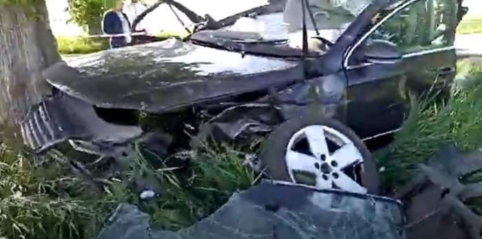 Accident rutier grav în Teleorman. Un tânăr de 21 de ani și-a pierdut viața, iar impactul a fost atât de violent încât motorul mașinii a zburat la zeci de metri