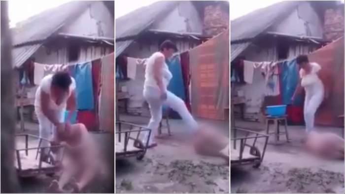 O femeie din Vălcea și-a bătut cu bestialitate mama, în vârstă de 84 de ani! Ce măsuri au luat oamenii legii împotriva agresoarei