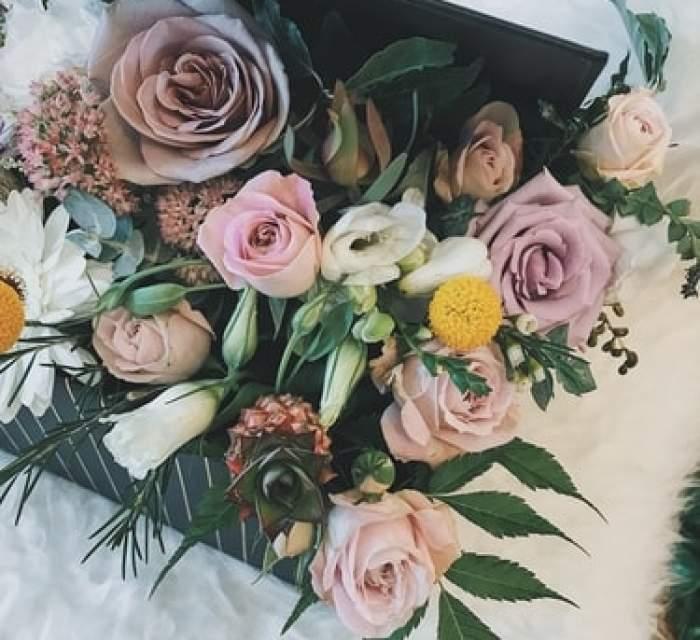Flori în cutii speciale, pentru ocazii deosebite, pe care le poți comanda online!