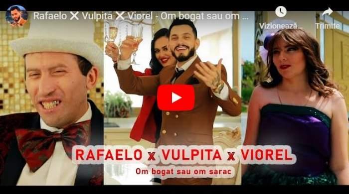 """Rafaelo, Vulpița și Viorel, trio de senzație! Au lansat melodia """"Om bogat sau om sărac"""" / VIDEO"""