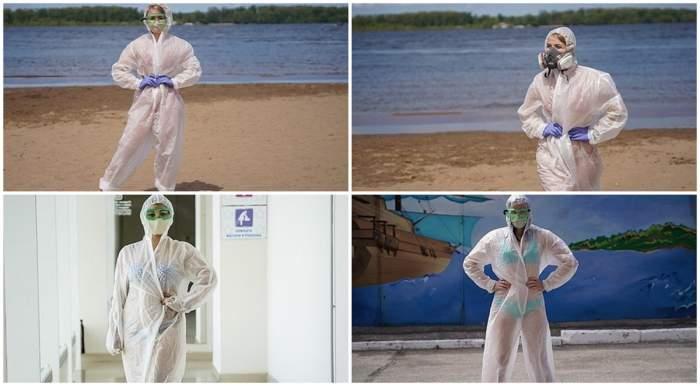 FOTO / Zeci de asistente, în bikini, in Rusia! Explicația gestului lor