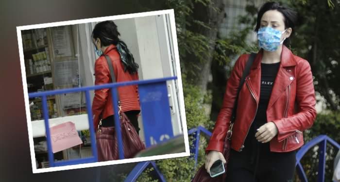 VIDEO PAPARAZZI / Nidia, Nidia, degeaba porți mască dacă traversezi neregulamentar! Grăbită să facă cât mai multe,fiica lui Horia Moculescu a uitat de lege! Imagini de senzație cu bruneta