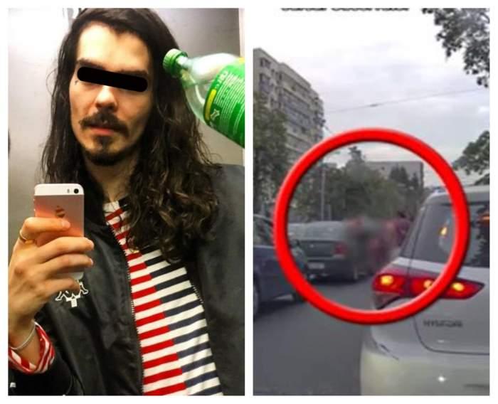 VIDEO / Imagini șocante cu presupusul iubit al Margheritei de la Clejani, snopit în bătaie în trafic! A fost lovit cu pumnii pentru o datorie mai veche