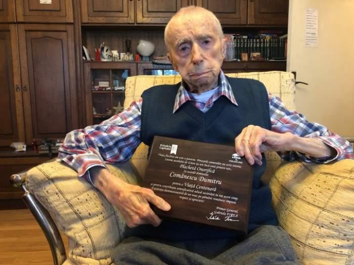 """Uluitor! Un român a preluat titlul de """"cel mai bătrân bărbat din lume"""". Câți ani are Dumitru Comănescu"""