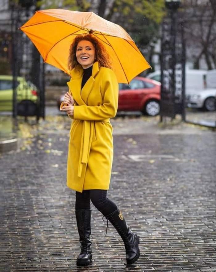 FOTO / Carmen Brumă sfidează chiar și vremea! Așa a ieșit vedeta pe stradă, lăsându-i pe trecători cu gurile căscate
