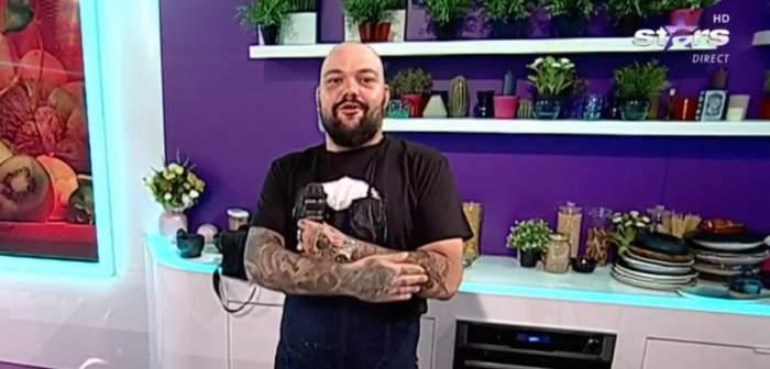 """Chef Munti, căzătură spectaculoasă! Ce s-a întâmplat după, a arătat chiar el, la Antena Stars! """"Dacă aveam 170 de kilograme..."""""""