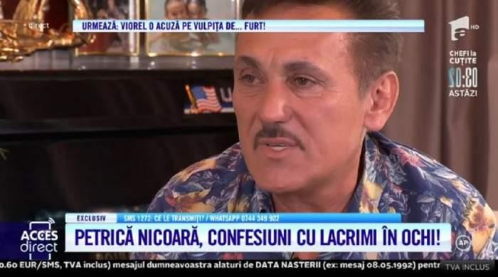 Acces Direct. Petrică Nicoară, mărturisiri cu lacrimi în ochi! Artistul a dezvăluit povestea sfâșietoare din spatele succesului! / VIDEO