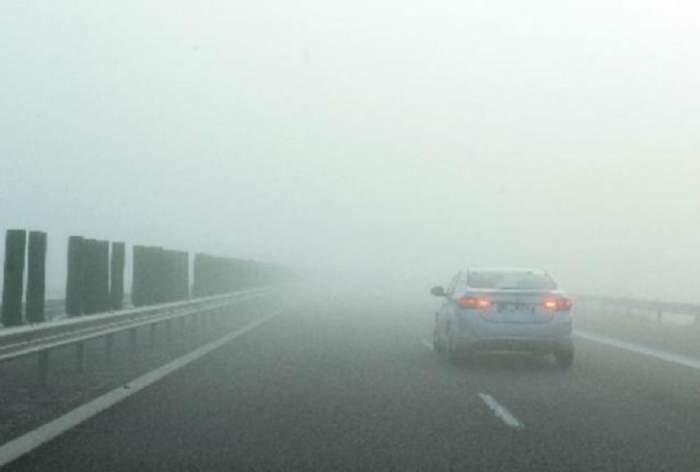Săptămâna începe cu o alertă ANM: cod galben de ceață! Zona vizată de avertismentul meteo