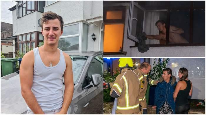 Românul devenit erou în Marea Britanie! A fugit dezbrăcat într-un incendiu, pentru a-și salva vecinul / FOTO