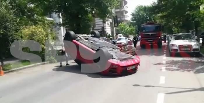 VIDEO / O prietenă de-a lui Vicenzo Castellano, implicată într-un grav accident din Capitală! Tânăra a fost luată cu ambulanța!