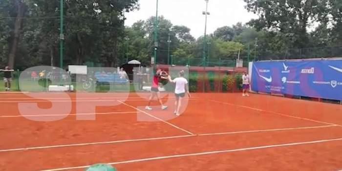 VIDEO / Simona Halep și Irina Begu, în acțiune! Cum au fost surprinsele tenismenele la antrenament. Imagini exclusive!