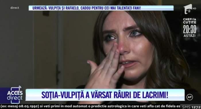 """VIDEO / Vulpița a izbucnit în lacrimi! Care este motivul pentru care Veronica nu s-a mai putut opri din plâns: """"Îi mulțumesc"""""""