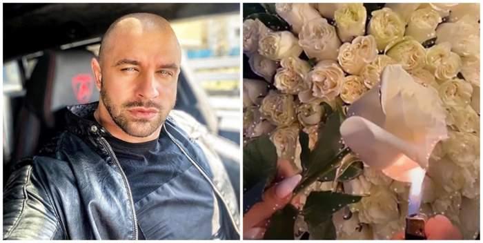 """Reacţia lui Alex Bodi, după gestul făcut de Bianca Drăguşanu cu buchetul primit de la el: """"Focul dinauntrul meu a ars"""""""