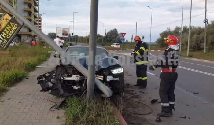 VIDEO / Accident grav în Mamaia! Polițiștii au ajuns de urgență la fața locului, însă au avut parte de o surpriză bizară. Ce au descoperit salvatorii