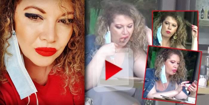 VIDEO PAPARAZZI / Pe principiulgrasă și frumoasă! Oana Lis, surprinsă în timp ce mănâncă din două.. farfurii! Ce gest scârbos a făcut soția fostului edil al Capitalei imediat după