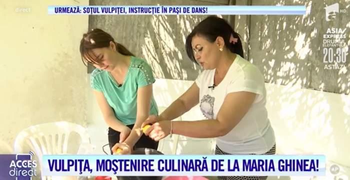 VIDEO / Vulpița, prima lecție de făcut dulceață de cireșe! Cântăreața Maria Ghinea a învățat-o pas cu pas!