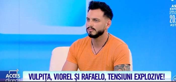 """I-a pierit zâmbetul de pe față! Rafaelo, supărat foc și pară pe Viorel! Ce i-a transmis artistul soțului Vulpiței. """"Mi-a adresat cuvinte care m-au deranjat"""""""