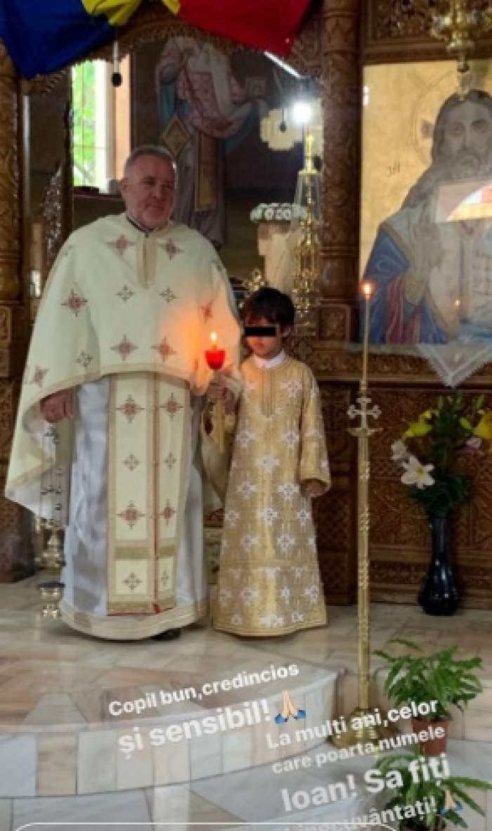 Băiatul Claudiei Pătrășcanu a luat calea bisericii! Reacția vedetei!