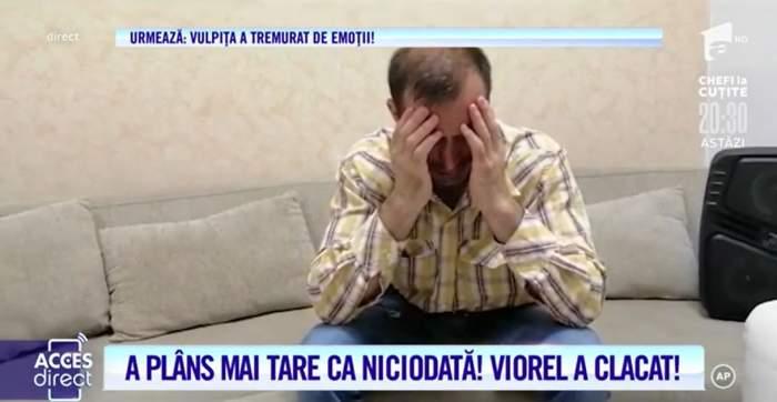 Viorel a plâns, în direct! Acuzat de violență, soțul Vulpiței a cedat! / VIDEO