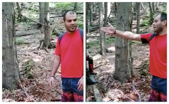 Motivul pentru care un bărbat s-a legat cu un lanț de copac și a aruncat cheia, în Munții Parâng