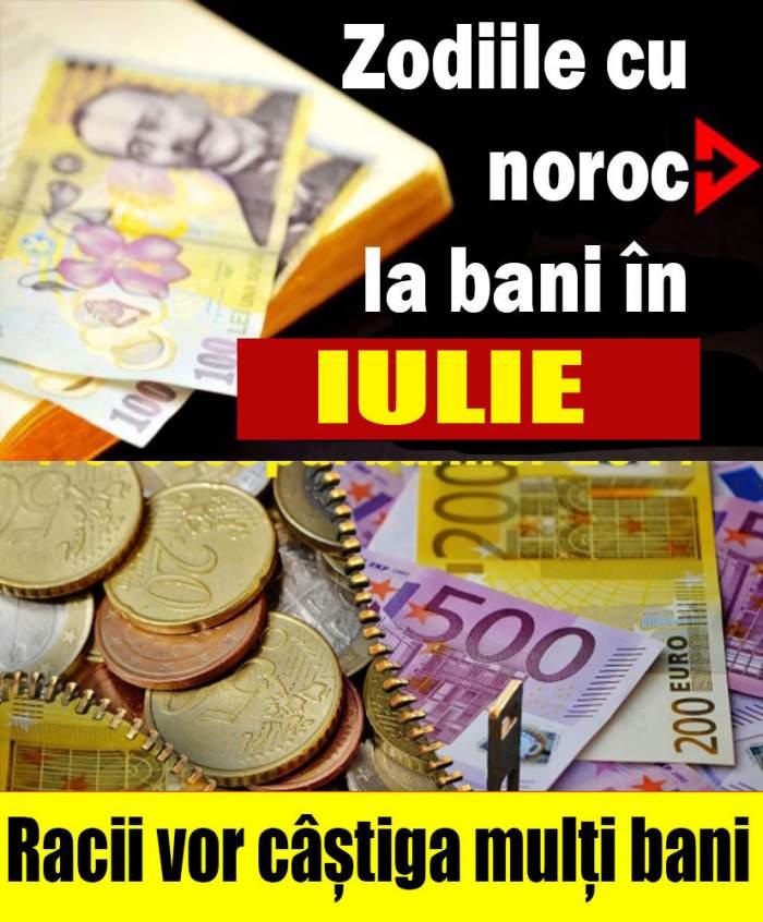 Zodiile cu noroc la bani în luna Iulie!