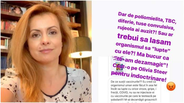 """Simona Gherghe, vehementă față de cei care nu susțin vaccinarea: """"Caut-o pe Olivia Steer pentru îndoctrinare"""""""