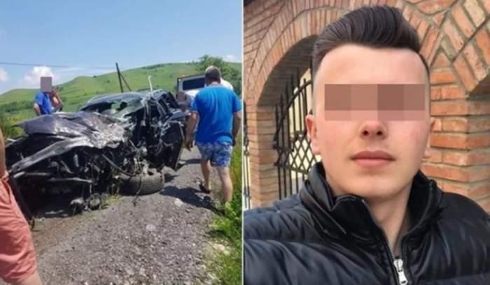 Un tânăr de 20 de ani a murit, după un accident violent cu mașina! S-a rostogolit zeci de metri pe un câmp din Sibiu