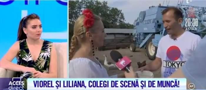 Viorel, soțul Vulpiței, s-a întors din nou la munca de jos. Colega sa de scenă, Liliana Moise, l-a pus la treabă / VIDEO