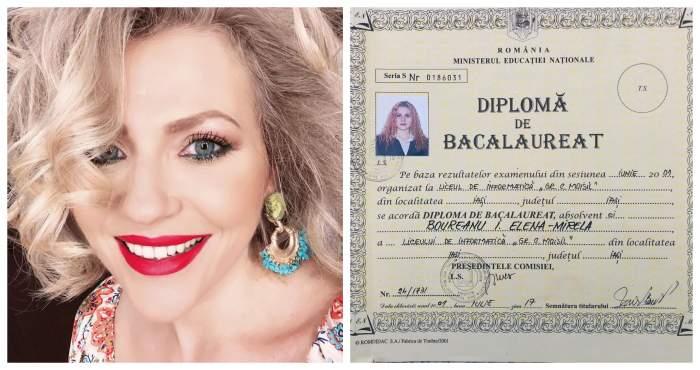 FOTO / Mirela Vaida și-a postat diploma de BAC pe rețelele de socializare. Cu ce note se mândrește vedeta