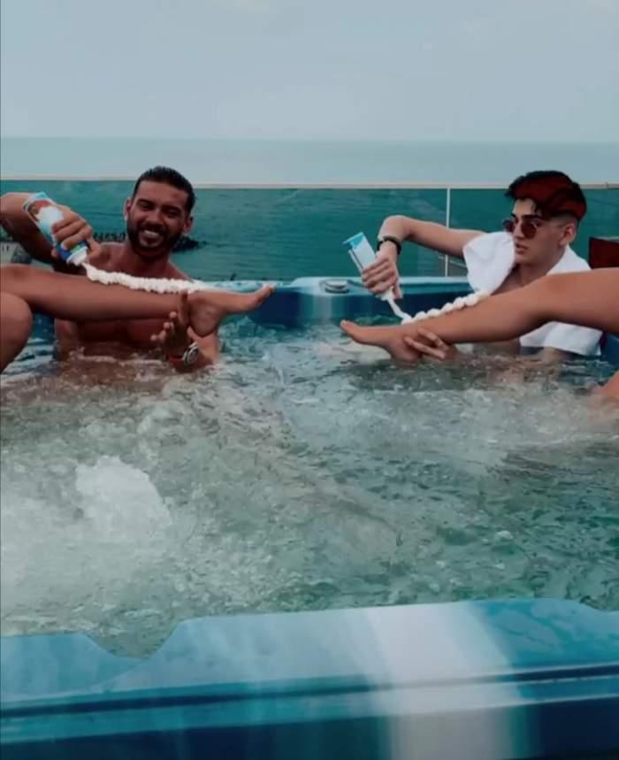 Dorian Popa și Abi Talent, colaborarea momentului. Artiștii au filmat primul lor clip, la malul mării / FOTO