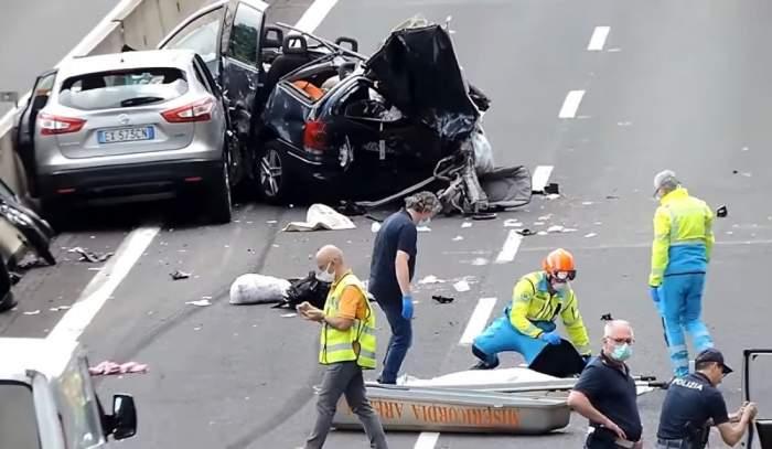 """Românii morți în accidentul cumplit din Italia, plânși de localnici! Oamenii nu-și mai găsesc liniștea: """"Au lăsat o durere foarte mare"""""""