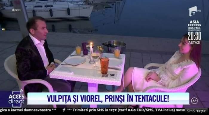 """Veronica și Viorel, cină romantică la malul mării! Și-au făcut declarații de iubire la lumina lumânărilor și au mâncat caracatiță! """"Iubirea mea"""" / VIDEO"""